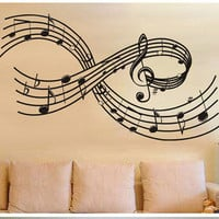 Removable Music Symbols Note Wall Art Decal Sticker Decor Mural DIY Vinyl Room