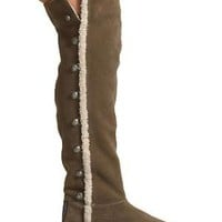 Juicy Couture Shearling Over-the-Knee Boots with Buttons - Styles - Bloomingdales.com