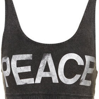 Peace Bra Top - Bralets &amp; Bandeaus - Jersey Tops - Clothing - Topshop