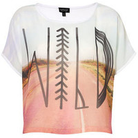 Wild Photographic Tee - Tees &amp; Tanks - Jersey Tops - Clothing - Topshop