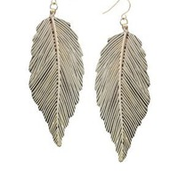 ASOS | ASOS Engraved Metal Leaf Drop Earring at ASOS