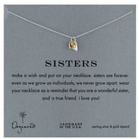 Dogeared 'Reminder - Sisters' Boxed Pendant Necklace