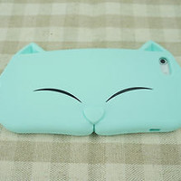 Soft silicon Cat Face case for iPhone 4 / 4S