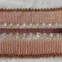 Copper Bead Hand Loomed Channel Cuff Bracelet