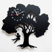 accessoryinlove  Tree Wall Clock Where Childhood Memory Gets Inspired