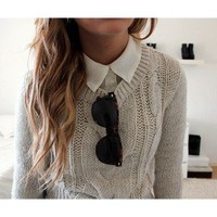 Trend: Sweaters Over Button Downs