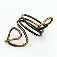 Gold Index Finger Ring-Brass Upper Finger Ring-Geo Swirl Ring
