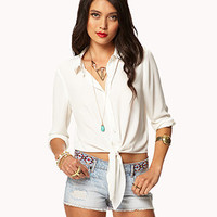 Filigree Collar Tip Shirt