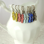 Painted Flip Flop Earrings - Choose your color, Natural Brass