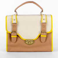 Saddle Satchel in Tan :: tobi