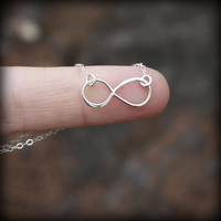 Infinity Necklace - SALE. Sterling Silver  Infinity . Eternity Necklace . Figure Eight . Inspired by Reese Witherspoon