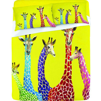 DENY Designs Home Accessories | Clara Nilles Jellybean Giraffes Sheet Set