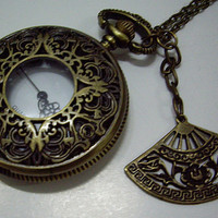 big size Retro hollow style beautiful  Pocket watch by qizhouhuang