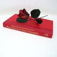 Custom Gift Box, Book Box, Decorative Book, Unique Gift / Red / Gold