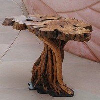 Olive Wood Table by NeotSemadarArtCenter on Etsy