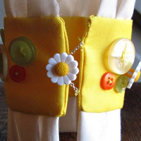 Lemon Yellow Cuff Bracelet