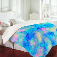 DENY Designs Home Accessories | Amy Sia Electrify Ice Blue Duvet Cover