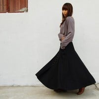 No.6 woolen maxi skirt - less is more(Q1019b)
