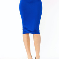 pencil-skirt BLACK BLUE CORAL MINT RED STONE WHITE - GoJane.com