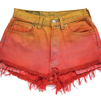 Levi ombre dyed high waisted shorts XS