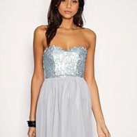  Rare Dress Sequin Bandeau Chiffon Babydoll 