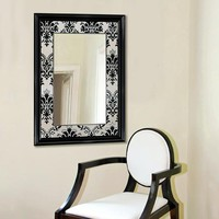 Illuminada - Elysian Damask Mirror (8616) - Framed - Mirrors