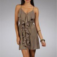 Mocha Satin Summer Dresses