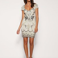 Karen Millen | Karen Millen Diamante Embellished Flapper Dress at ASOS