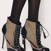 ASOS | ASOS ATTACK Leather Lace Up Platform Boots