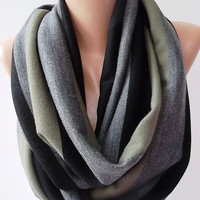 by womann Elegant and classy ...Infinity Scarf Loop Scarf Circle Scarf