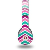 Zig Zag Teal Pink Purple Decal Style Skin (fits genuine Beats Solo HD Headphones - HEADPHONES NOT INCLUDED): Everything Else
