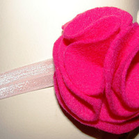Lovely hot pink felt flower headband for by LizziesBowtique1