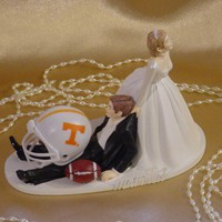 Tennessee Volunteer College Football Sport Groom Wedding Cake Topper | weddingdazzlers ArtFire Gallery
