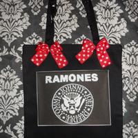 THE RAMONES punk tote bag
