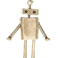 ASOS Long Metal Robot Pendant Necklace at ASOS