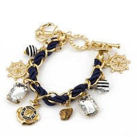 Nautical Anchor Charm Bracelet: Jewelry