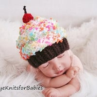 Newborn Baby Cupcake Beanie, Photographty Prop