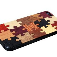 Amazon.com: iPhone 5 Pre-Assembled Puzzle Real Wood Skin Front & Back Cover Made in the USA: MP3 Players & Accessories