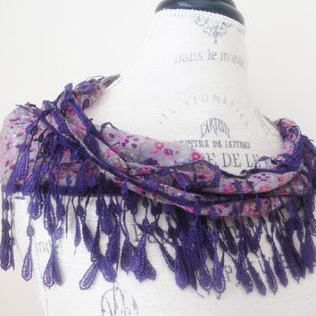 Ship from US Organic Cotton Fringe Chunky Lace by SistersLace