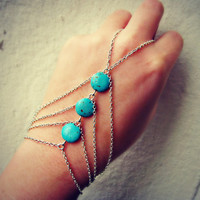 silver slave bracelet turquoise triangle , turquoise jewelry, turquoise accessory, unique bracelet, vintage style bracelet