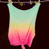 TriColor Sunset Ombre Tank by GreatsbyKate on Etsy