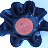 "BOB DYLAN Recycled Record Bowl ""Blood On The Tracks"" by recordsandstuff"