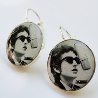 Bob Dylan Earrings by melaniemross on Etsy