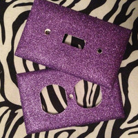 Pimpin Purple Outlet and Light Switch by MelaniesGlittermania