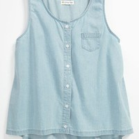 Tucker + Tate &#x27;Jennifer&#x27; Denim Tank Top (Big Girls) | Nordstrom