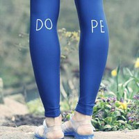 Hand Painted, Dope, Sheen Leggings from We Are Hairy People