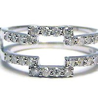 .50 ctw Diamond Ring Wrap Guard Enhancer Insert 14k white gold: Jewelry