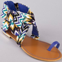 Bamboo Bloom-64 Bow Flat Printed Sandal: Shoes
