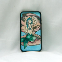 Under Water Beauty, iPhone case, iPhone cover, iPhone 4/4s, mermaid, goddess, shell, preppy, hippie, indie, hipster, women, girls, pink