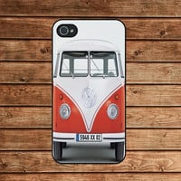 iphone 4 case,iphone 4s case--mini bus,in plastic or silicone case